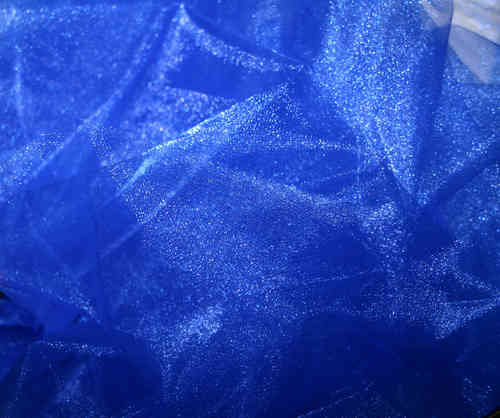 Twinkle Crepon Organza   Royal Blue