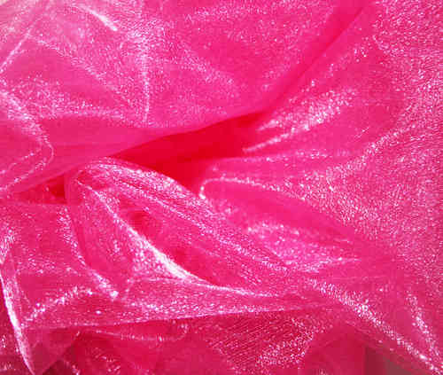 Twinkle Crepon Organza  Cerise Slight 2nds