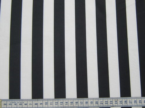 4 Way Stretch Black/White Stripe