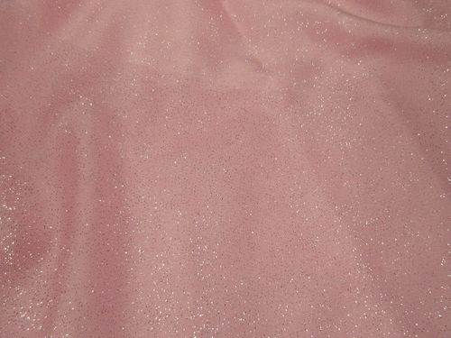 Glitter Tulle Pale Pink/Silver