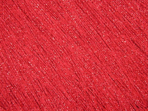 Stretch Fringe  Red Metallic