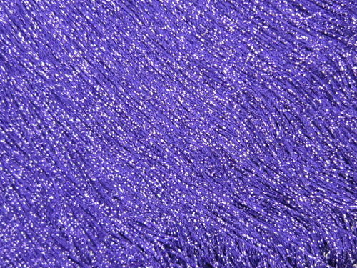 Stretch Fringe Purple Metallic