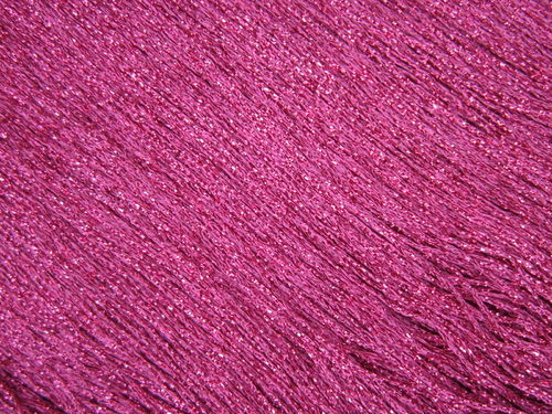 Stretch Tactel Fringe 15cm Cerise Metallic