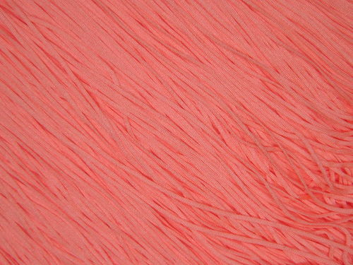 Stretch Tactel Fringe  Coral