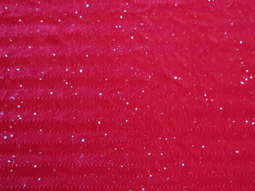 Stretch Sparkle Velvet Red