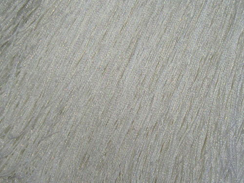 Stretch Fringe 30cm White/Pearl Metallic