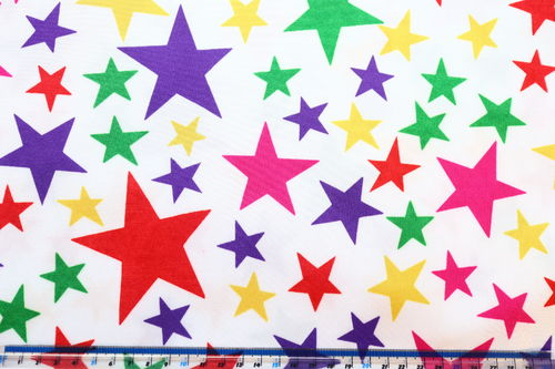 Lycra Multi Coloured Stars