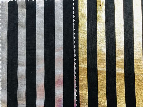 Metallic Stripe Foil Sample