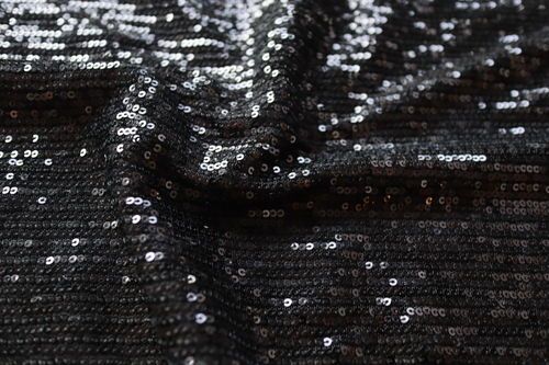 Sequin Jersey Mesh - Black